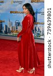 """Small photo of LOS ANGELES, CA. June 28, 2017: Actress Laura Harrier at the world premiere of """"Spider-Man: Homecoming"""" at the TCL Chinese Theatre, Hollywood."""