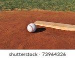 Baseball On The Pitcher\'s Moun...