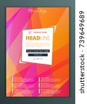 modern vector abstract brochure ... | Shutterstock .eps vector #739649689