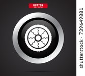 simple wheel icon | Shutterstock .eps vector #739649881
