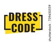 dress code. badge icon. flat... | Shutterstock .eps vector #739650559