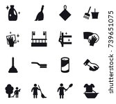 16 vector icon set   cleanser ... | Shutterstock .eps vector #739651075
