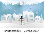 scenery in the winter with... | Shutterstock .eps vector #739658014