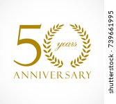 50 years old luxurious logotype.... | Shutterstock .eps vector #739661995