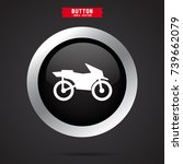 motorcycle icon. transport sign | Shutterstock .eps vector #739662079
