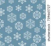christmas seamless pattern of... | Shutterstock .eps vector #739665727