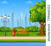 vector illustration of city... | Shutterstock .eps vector #739666321