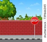 Vector Illustration Of Brick...