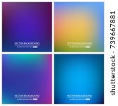 abstract creative concept... | Shutterstock .eps vector #739667881