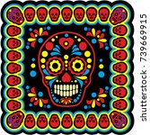 holy death  day of the dead ... | Shutterstock .eps vector #739669915