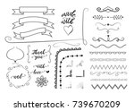 vector set of different... | Shutterstock .eps vector #739670209
