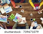 group of diverse designers... | Shutterstock . vector #739671079