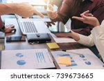 startup business people group... | Shutterstock . vector #739673665
