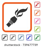 burner nozzle fire icon. flat... | Shutterstock .eps vector #739677739