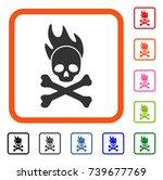 death fire icon. flat gray... | Shutterstock .eps vector #739677769