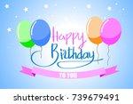 vector design for happy... | Shutterstock .eps vector #739679491