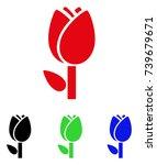 Tulip Icon. Vector Illustratio...
