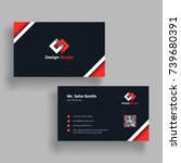 black and red business card...   Shutterstock .eps vector #739680391