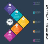 examples of infographics  how... | Shutterstock .eps vector #739688125