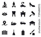 16 vector icon set   microscope ... | Shutterstock .eps vector #739688551