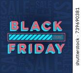 abstract vector black friday... | Shutterstock .eps vector #739690381