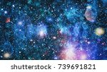 nebula and galaxies in space... | Shutterstock . vector #739691821