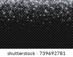 silver particles falling on... | Shutterstock .eps vector #739692781