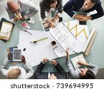 group of diverse business... | Shutterstock . vector #739694995