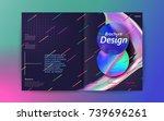 abstract brochure design ... | Shutterstock .eps vector #739696261