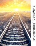 railway to the sunset | Shutterstock . vector #73969843