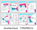 abstract vector layout... | Shutterstock .eps vector #739698511