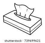 tissue box   cartoon vector and ... | Shutterstock .eps vector #739699621
