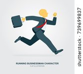 running businessman character.... | Shutterstock .eps vector #739699837