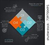 modern business infographic for ... | Shutterstock .eps vector #739700491