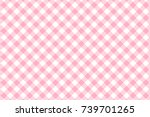 Stock vector pink gingham pattern texture from rhombus squares for plaid tablecloths clothes shirts 739701265