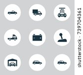 car icons set. collection of... | Shutterstock .eps vector #739704361