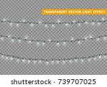 christmas lights isolated... | Shutterstock .eps vector #739707025