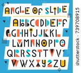 alphabet with geometric shapes. ... | Shutterstock .eps vector #739708915