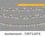 christmas lights isolated... | Shutterstock .eps vector #739711075