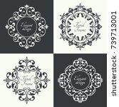circular baroque patterns.... | Shutterstock .eps vector #739713001