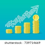 bitcoin crypto currency growth... | Shutterstock .eps vector #739714669