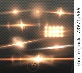 illustration of vector lens... | Shutterstock .eps vector #739715989