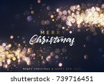 christmas background with... | Shutterstock .eps vector #739716451