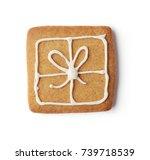 christmas gingerbread cookie... | Shutterstock . vector #739718539