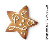 christmas gingerbread cookie... | Shutterstock . vector #739718635