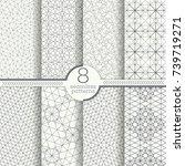set of seamless patterns.... | Shutterstock .eps vector #739719271