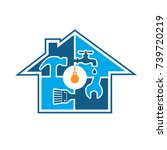 home service logo | Shutterstock .eps vector #739720219