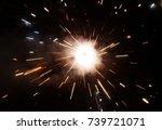 festival crackers sparks | Shutterstock . vector #739721071
