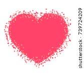 heart confetti shape  bright...   Shutterstock .eps vector #739724209