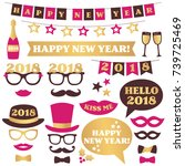 new year party design elements... | Shutterstock .eps vector #739725469